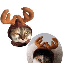 Dog Cat Hat Deer Hats Teddy Dog Antlers Dog Gentleman Caps Christmas Hat Pet Costume