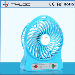 4 Inch Portable USB Mini desk Fan with Led Light and Rechargeable Battery