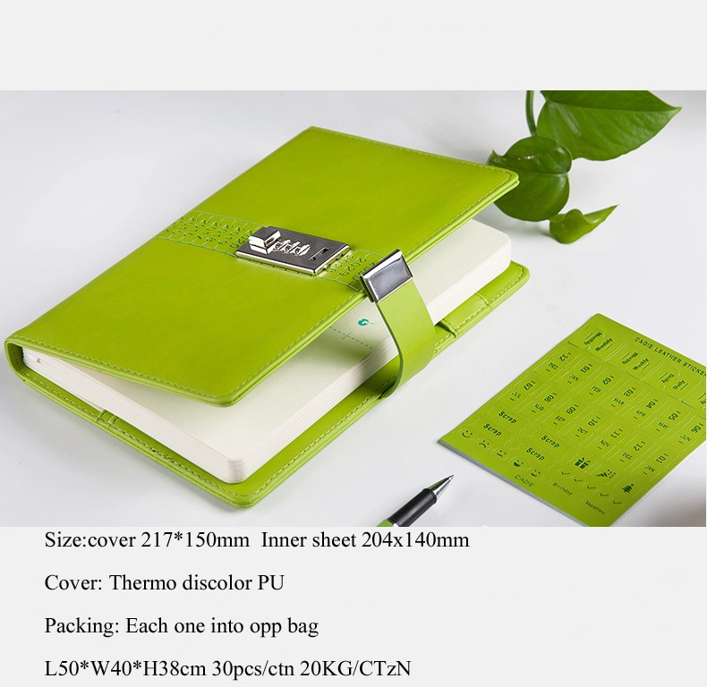 custom notebook printing PU leather notebook diary notebook