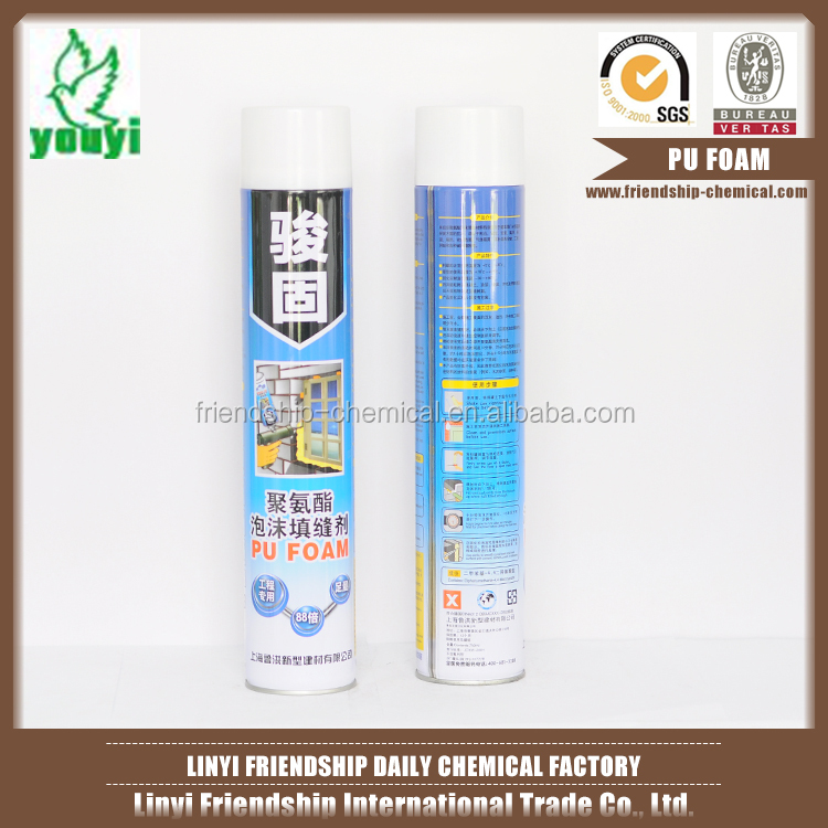 Good expanding and filling capacities pu foam caulking aerosol canned pu foam