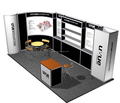 simple advertising trade show display rack for exhibition booth system, cheap trade show display