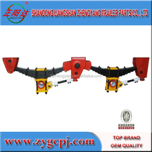 semi trailer suspension spare parts 75and80pin mechanical suspension hanger heavy truck air suspension