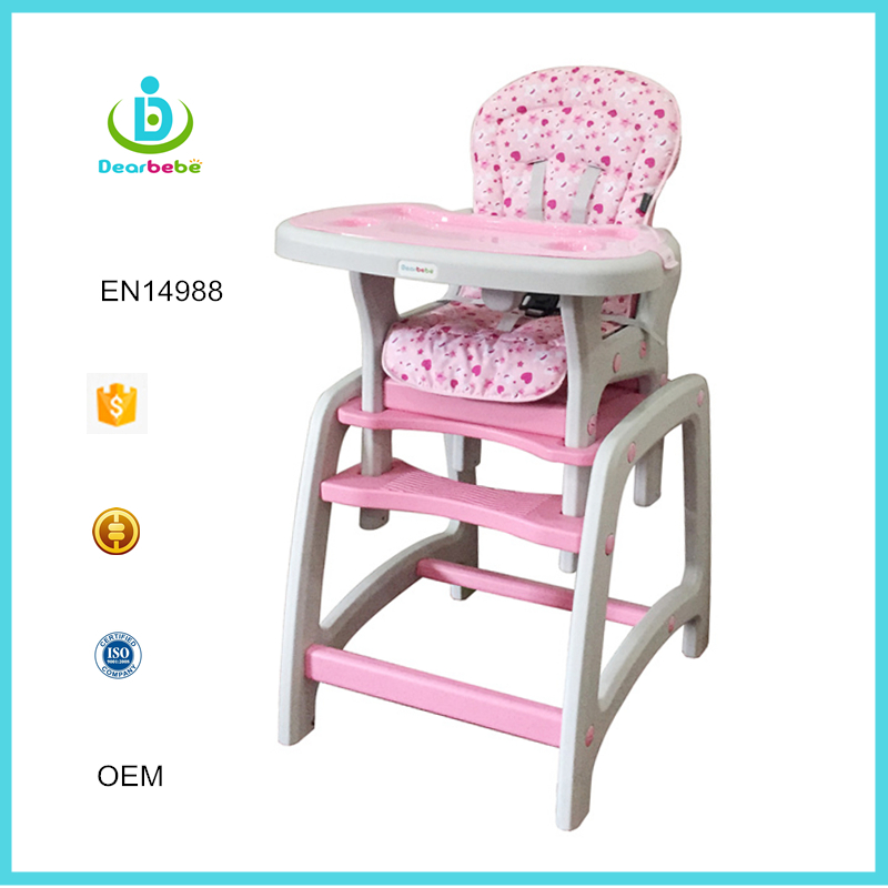 Wholesale Plastic High Chairs Children Restaurant Furniture 3 in 1 Baby Feeding High Chair