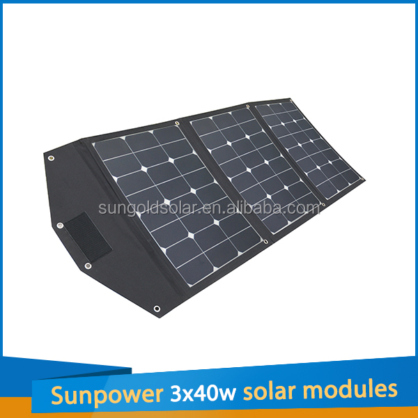 Sunpower Portable 120W Flexible Mounted Solar Panel Charger