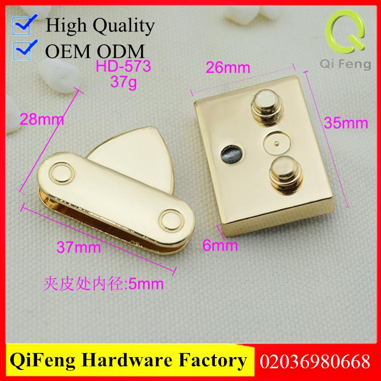 Guangzhou factory bag accessories wholesales light gold color handbag lock