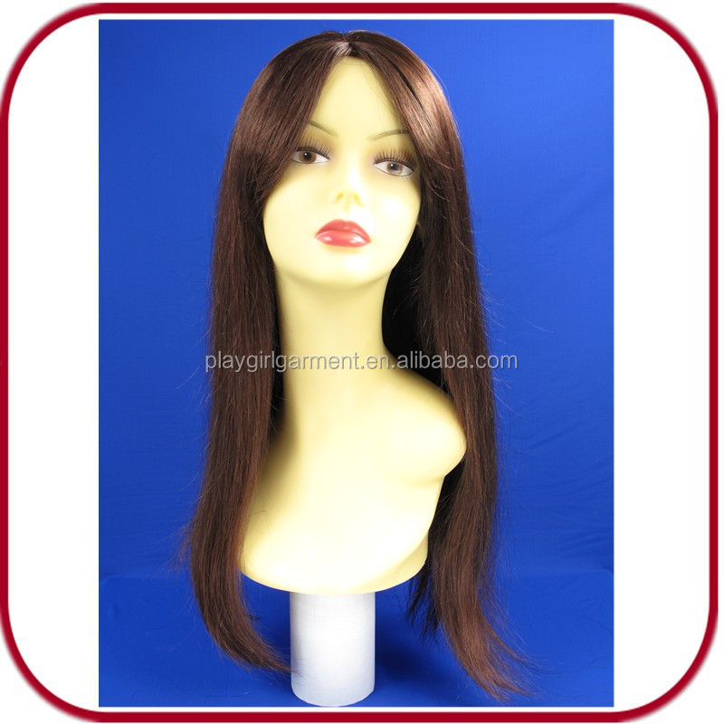 Glamourous long straight auburn human hair full lace wig PGW-1774