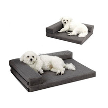 Luxury Pet Sofa Cotton Linen Bed Dog Bed