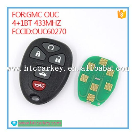 Universal car key remote 433 mhz for chevrolet/gmc ouc