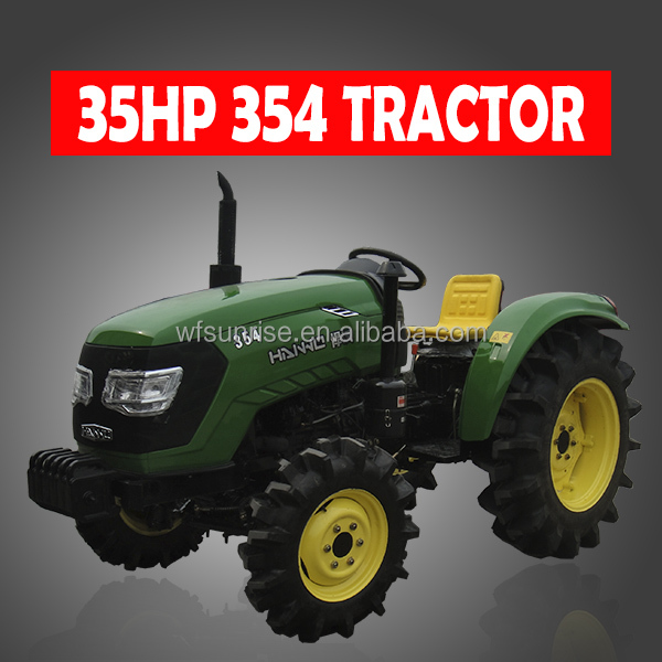 4WD 35HP Chinese small farm tractors