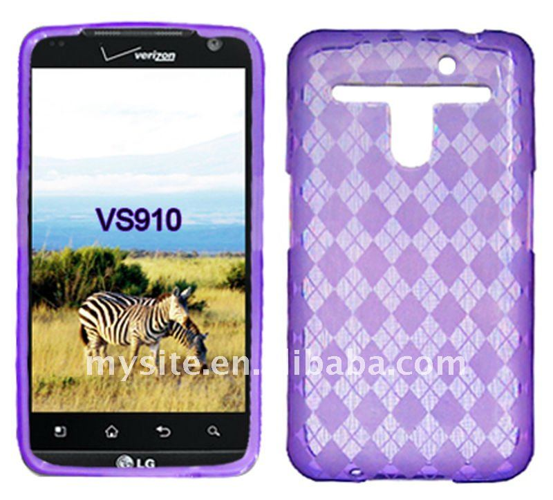 Newest Cell Phone Clear TPU Case for LG Revolution 4G/VS910/MS910