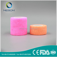 Free Sample Colored Sports Medical Adhesive Bandage/ Wrap Tape