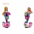 universal light music balance car with doll battery operated toy
