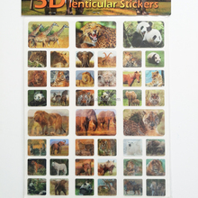 Hot Sell 3D Motion Moving lenticular sticker (different images change)