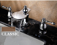 Fancy Dual Handles Bathroom Basin Sink Faucet