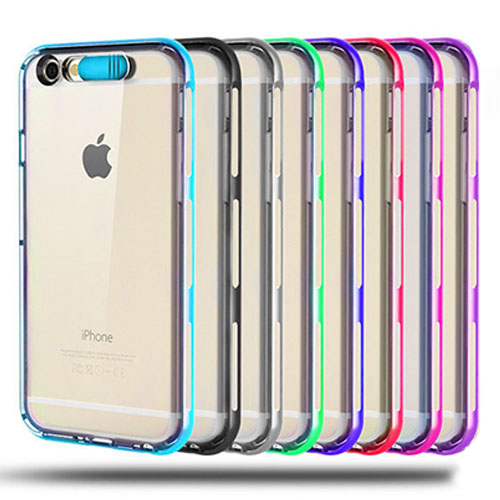 New Design TPU PC Hybrid Incoming Call LED Phone Cover Case For iPhone 6 6s