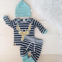3pcs Baby Boy Girls Kids Clothes