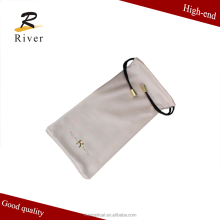 high quality microfiber eyeglasses cloth pouch
