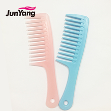 2017 new wholesale beautiful brands wide tooth plastic hair comb