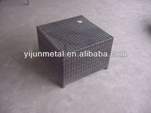 outdoor square wicker small table