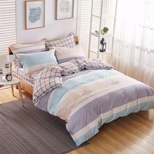 King Size Comforter Sets Sale Elegant Life Style Bedsheet With Warm Color Checks And Stripes