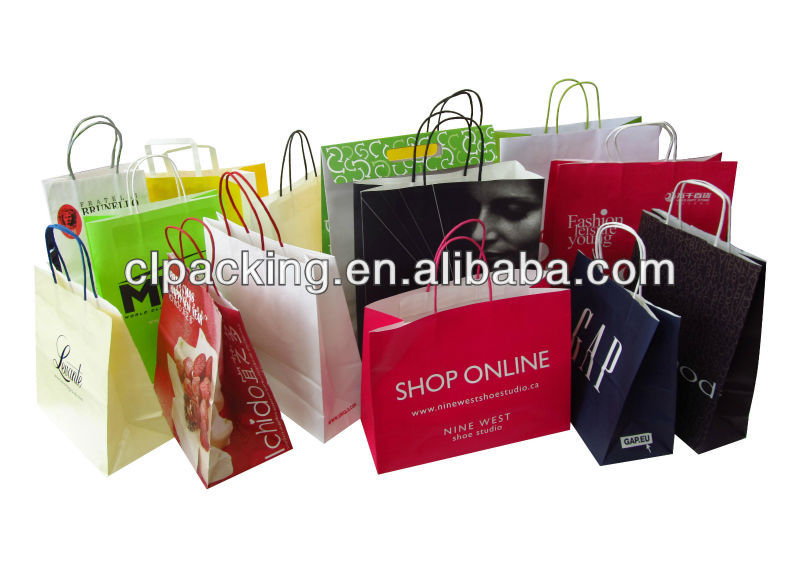 Custom Made High Quality lime green paper bags