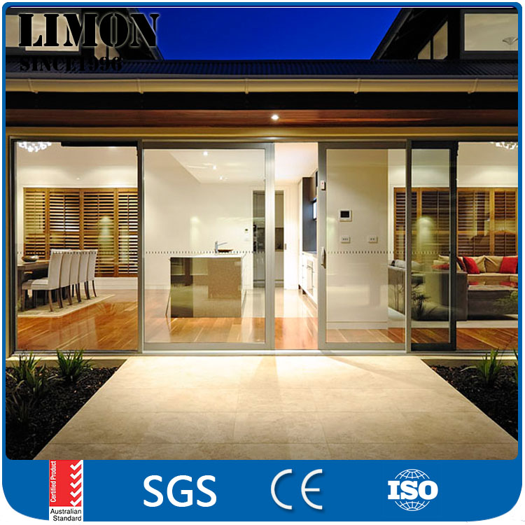 Aluminum Interior Glass Sliding Bathroom Folding Door for house