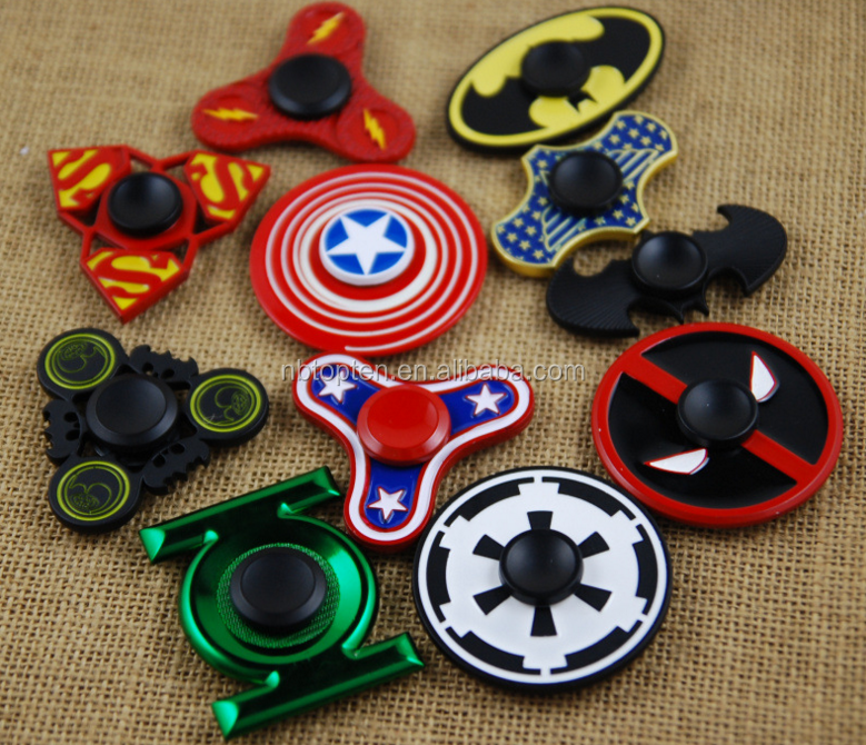 Top Selling In Stock Superhero Icon Toy Hand Fidget Spinner For Kids & Adults