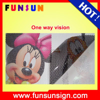 High Quality Self Adhesive Vinyl Digital Printing Black Glue One Way Vision For Window And Glass