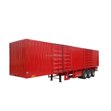 tri-axle dry box van truck cargo transport semi trailers for sale