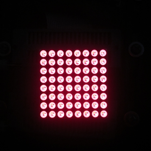 best seal! 8*8 red led dot matrix display screen