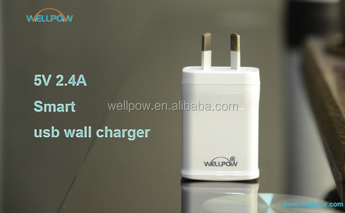 AU plug charger 2.4a usb wall charger with RCM SAA C-tic