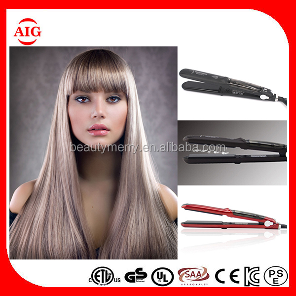 2016 custom fast steam hair straightener comb with logo low price protein hair straightener