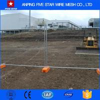 Concrete filled plastic feet temporary fence stands concrete with low prices