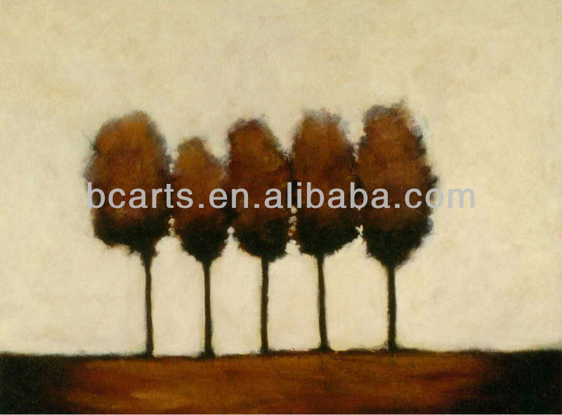 hand painted impressionist canvas tree oil painting for wall hang arts