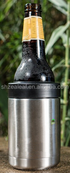 12oz stainless steel can cooler, beer cola cooler holder, Double wall vacuum can cooler