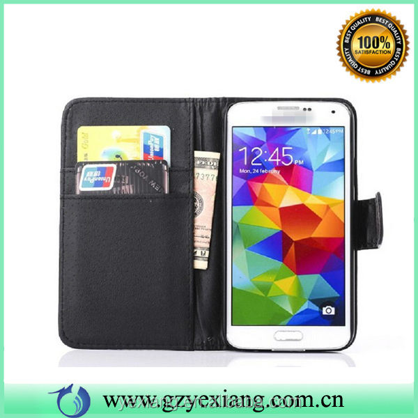 HOT Credit Card Slot Wallet Leather Case For Samsung Galaxy S5 I9600