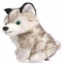High Quality Lovely Simulation Husky Dogs Stuffed Soft Animals Plush Eco-friendly Pets Toys