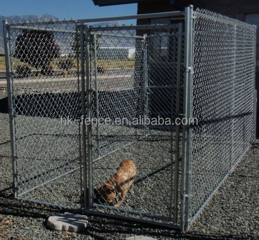 High quality cheap large outdoor stainless steel pet dog cages & galvanized steel dog cages with new deign