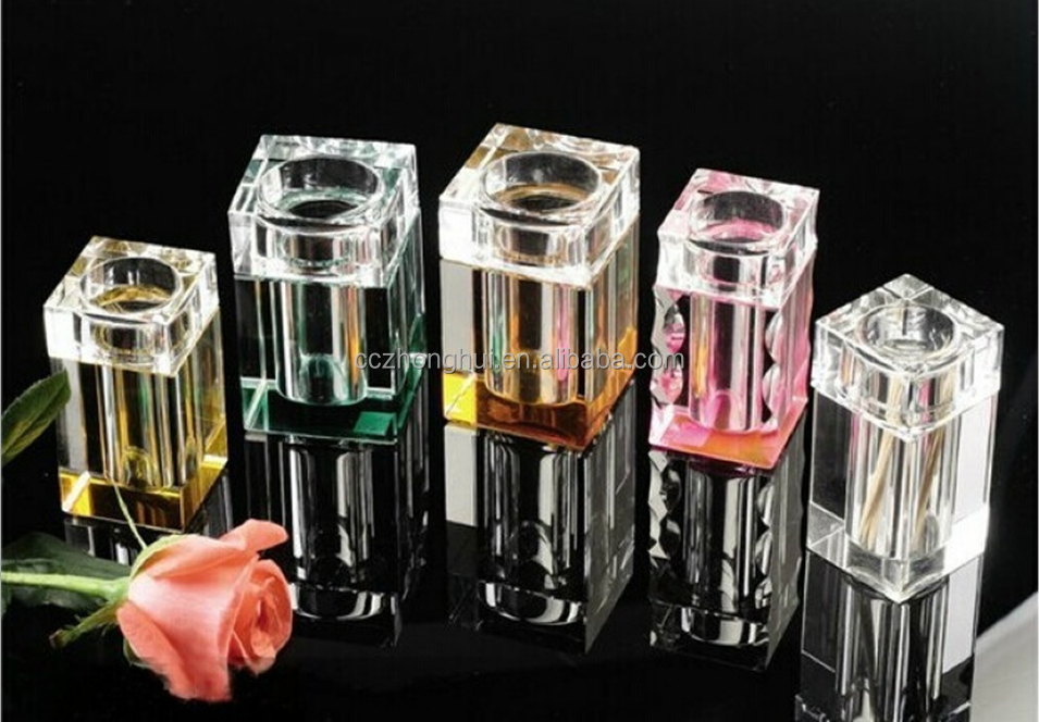 2016 New fashion glass crystal toothpick box container