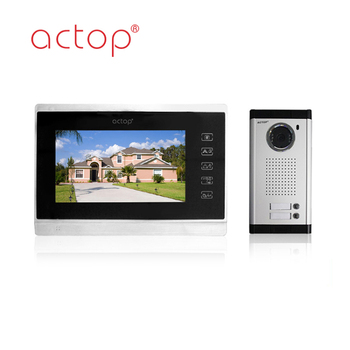 China factory ACTOP wired video door phone with photo memory for 2 apartments building
