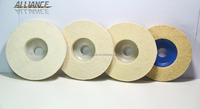 "4"" Stainless Steel Polishing 8mm Angle Grinder Wool Felt Disc For Polishing"