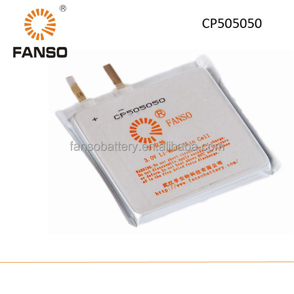 CP505050 3V 3ah lithium Limno2 primary battery