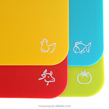 BPA Free Flexible Plastic Thin Cutting Board Set