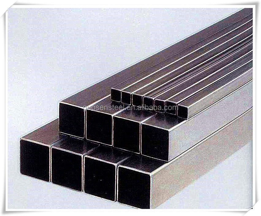 WELDED BLACK SQUARE RECTANGULAR STEEL PIPES USED FOR CONSTRUCTION MATERIAL