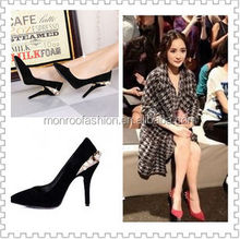 Monroo 2014 spring newest european and american pointed high-heeled shoes