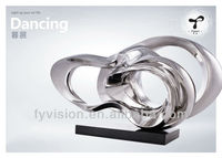 Stainless Steel Sculpture Modern Abstract Sculpture For Hotel Decoration