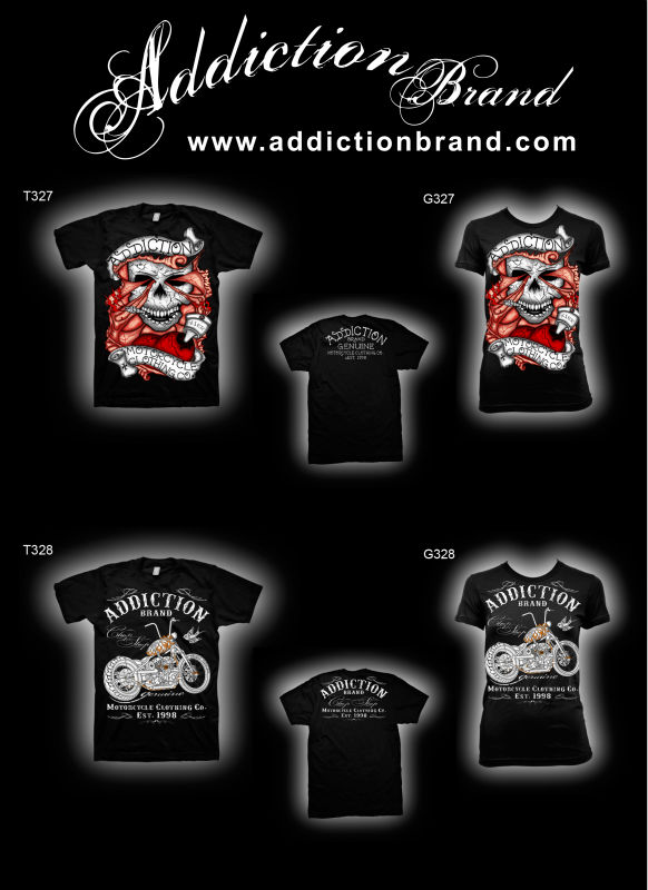 Addiction Brand Motorcycle Clothing Co T327