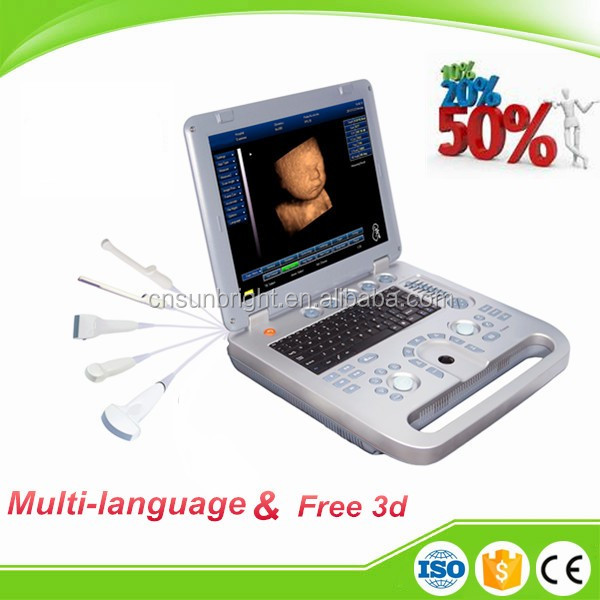 2016 Super quality home ultrasound device laptop ultrasound scanner with battery and USB ports