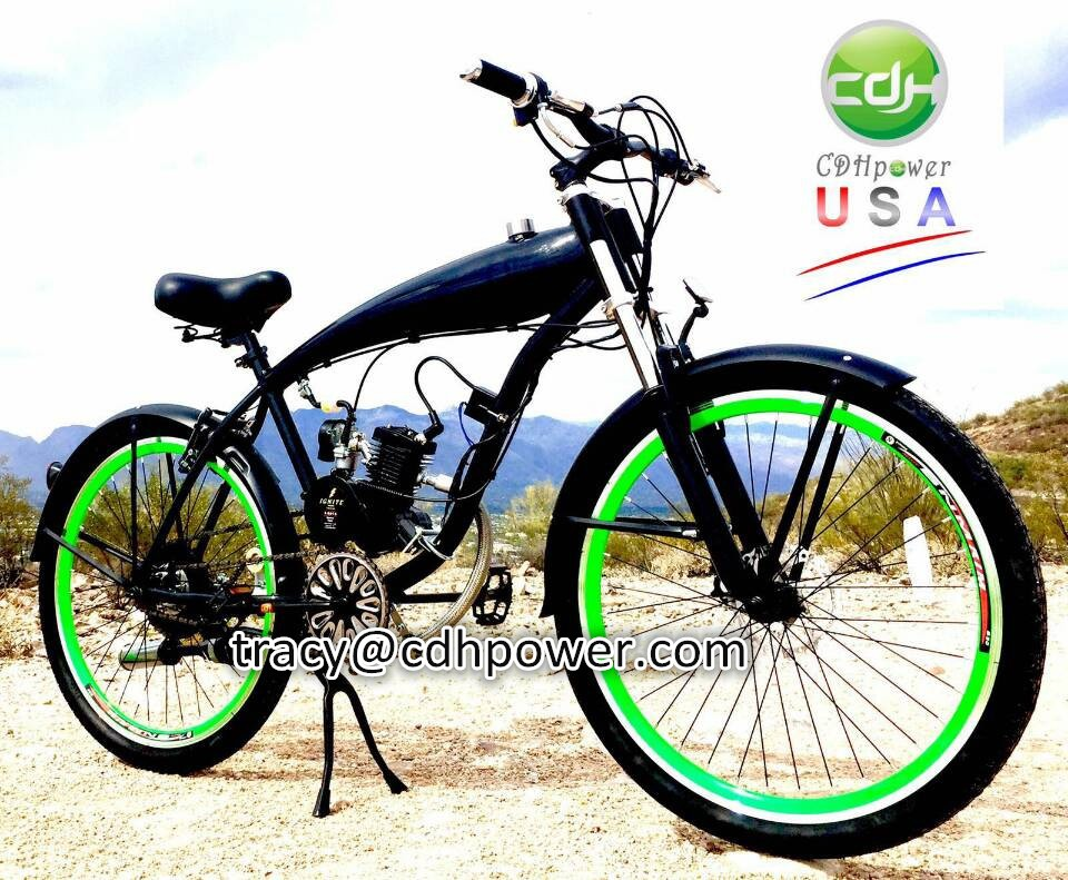 Motorized chopper bicycle, complete motorised bicycle