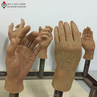artificial silicone hands used for props